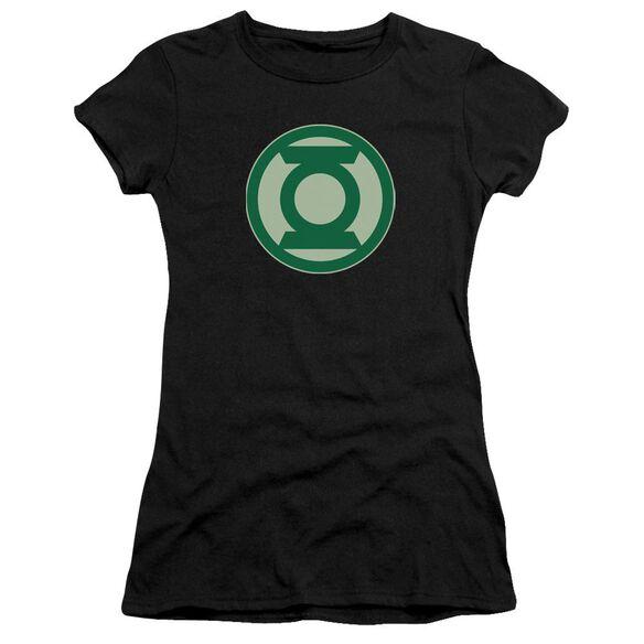 Green Lantern Green Symbol Short Sleeve Junior Sheer T-Shirt