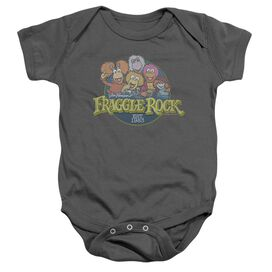 Fraggle Rock Circle Logo Infant Snapsuit Charcoal