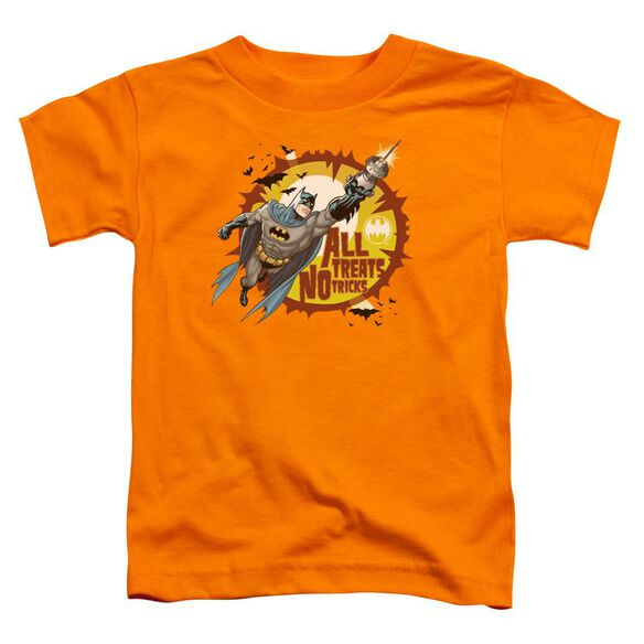 Batman All Treats Short Sleeve Toddler Tee Orange T-Shirt