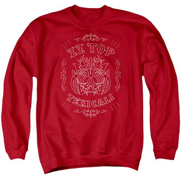 Zz Top Texicali Demon Adult Crewneck Sweatshirt
