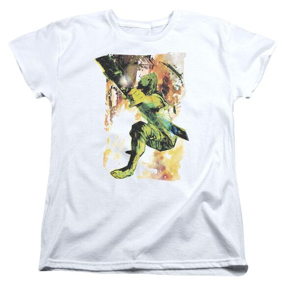 Jla Painted Archer Short Sleeve Womens Tee T-Shirt
