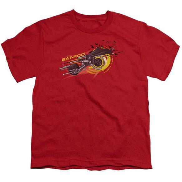 Dark Knight Bat Pod Short Sleeve Youth T-Shirt