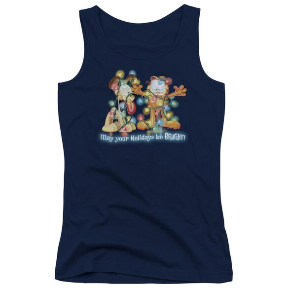 Garfield Bright Holidays Juniors Tank Top