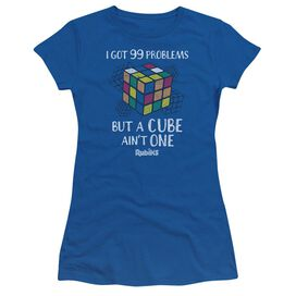 Rubik's Cube 99 Problems Short Sleeve Junior Sheer Royal T-Shirt