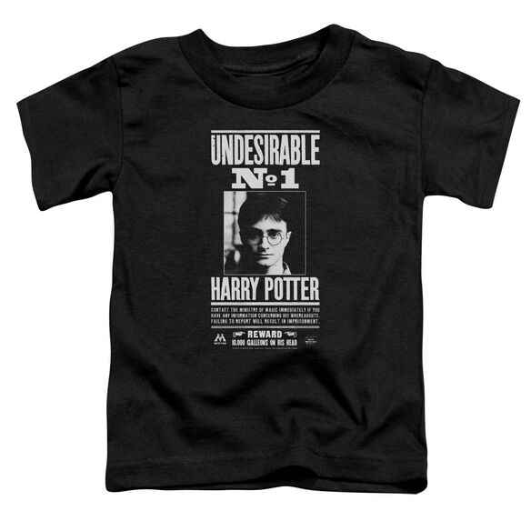 Harry Potter Undesirable No 1 Short Sleeve Toddler Tee Black T-Shirt