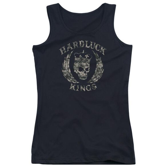 Hardluck Kings Camo Logo Juniors Tank Top