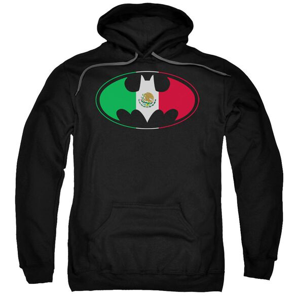 Batman Mexican Flag Shield Adult Pull Over Hoodie
