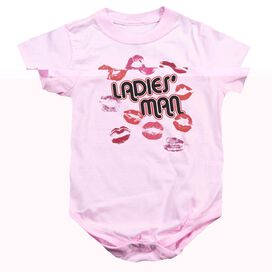 LADIES MAN - INFANT SNAPSUIT - PINK - LG