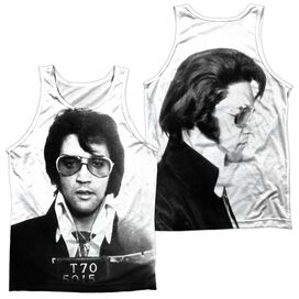Elvis Mugshot (Front Back Print) Adult 100% Poly Tank Top