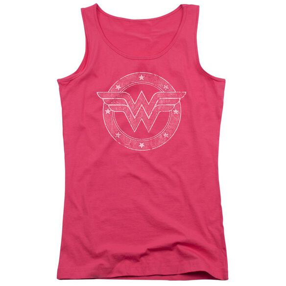 Dc Tattered Emblem Juniors Tank Top Hot