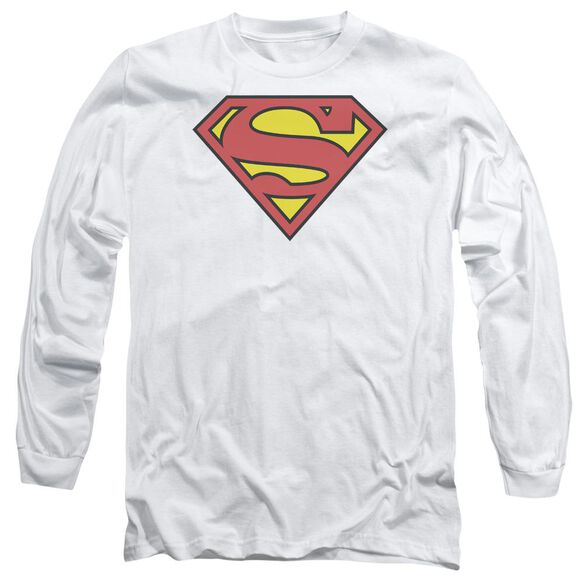 Superman Classic Logo Long Sleeve Adult T-Shirt