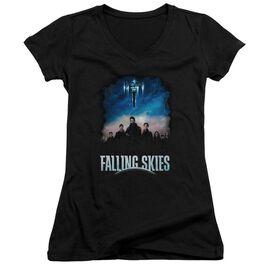 Falling Skies Main Players Junior V Neck T-Shirt