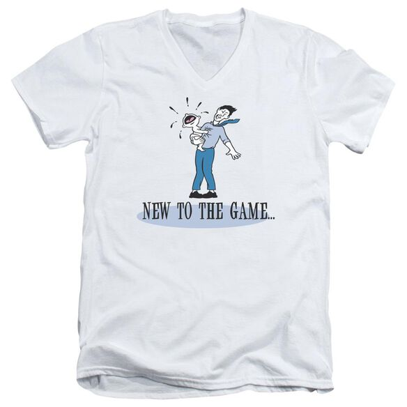 New To The Game Short Sleeve Adult V Neck T-Shirt