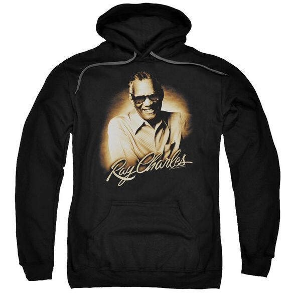Ray Charles Sepia Adult Pull Over Hoodie
