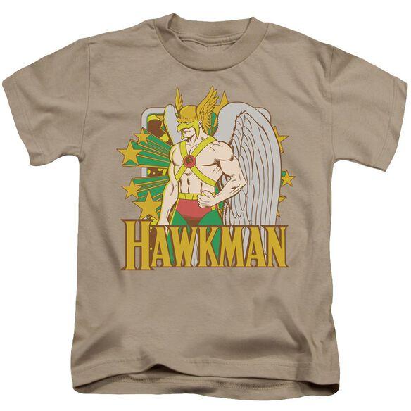 Dc Hawkman Stars Short Sleeve Juvenile Sand T-Shirt