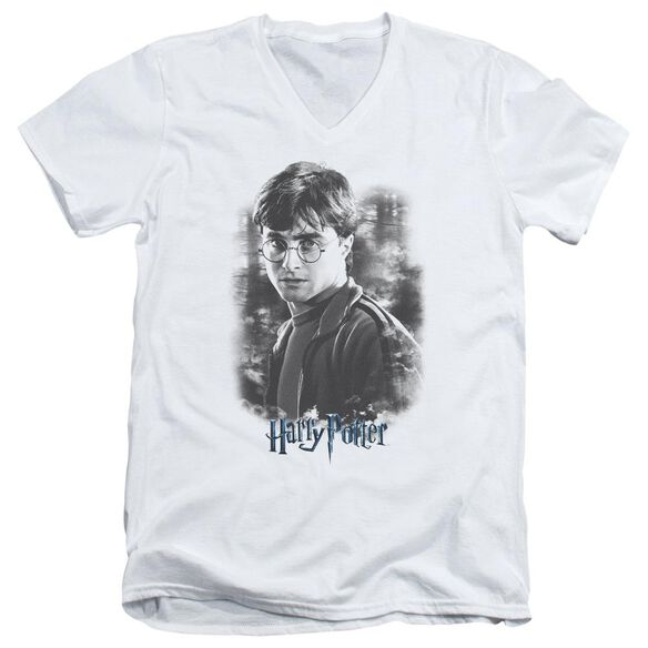 Harry Potter Harry In The Woods Short Sleeve Adult V Neck T-Shirt