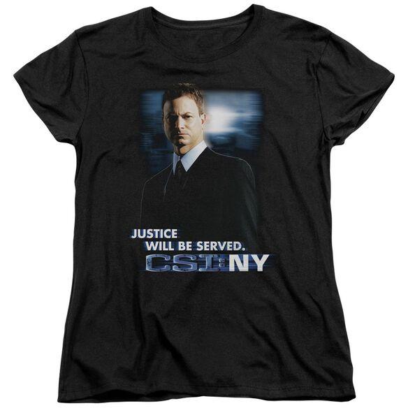 Csi:Ny Justice Served Short Sleeve Womens Tee T-Shirt