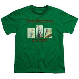 Zz Top Tres Hombres Short Sleeve Youth Kelly T-Shirt