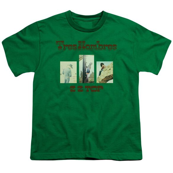 Zz Top Tres Hombres Short Sleeve Youth Kelly T-Shirt