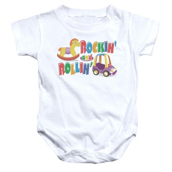 Rockin And Rollin Infant Snapsuit White Md
