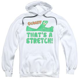Gumby That'S A Stretch Adult Pull Over Hoodie