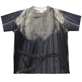 Lord Of The Rings Galdalf The Grey Costume Short Sleeve Youth Poly Crew T-Shirt