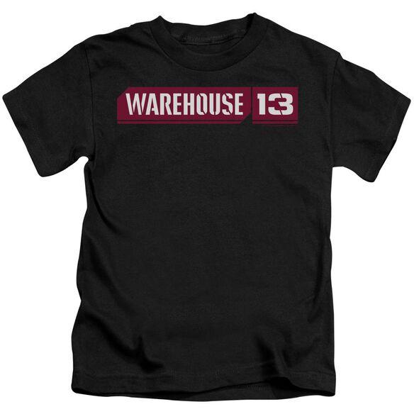 Warehouse 13 Logo Short Sleeve Juvenile Black Md T-Shirt