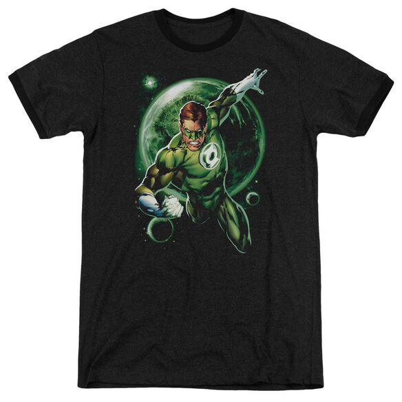 Green Lantern Galaxy Glow Adult Heather Ringer