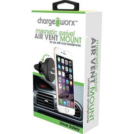 Chargeworx CX9940BK Universal Magnetic Swivel Air Vent Mount [Black]