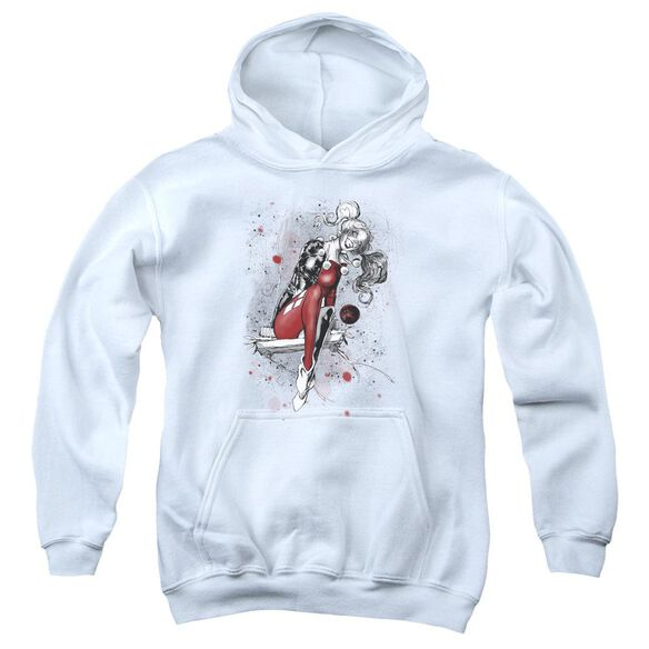 Jla Harley Sketch Youth Pull Over Hoodie