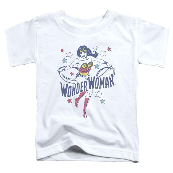 Dc Wonder Stars Short Sleeve Toddler Tee White T-Shirt