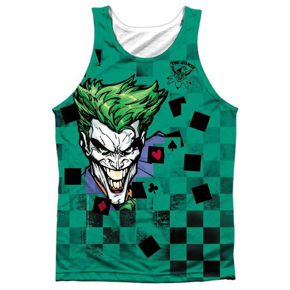 Batman Boxed Clown Adult 100% Poly Tank Top