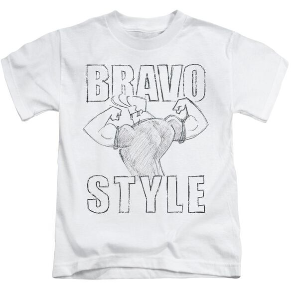 Johnny Bravo Bravo Style Short Sleeve Juvenile T-Shirt