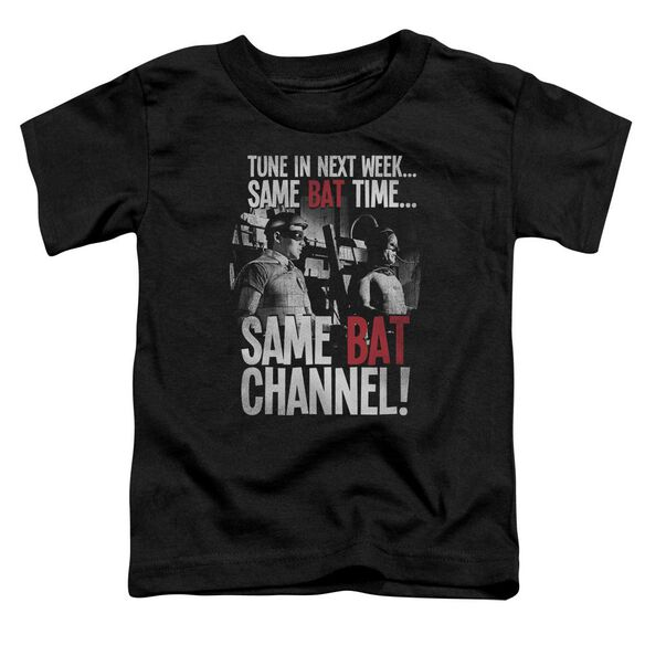 Batman Classic Tv Bat Channel Short Sleeve Toddler Tee Black T-Shirt