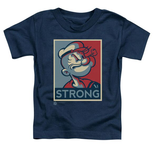 POPEYE STRONG - S/S TODDLER TEE - NAVY - T-Shirt