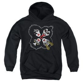 Kiss Rock And Roll Heads Youth Pull Over Hoodie