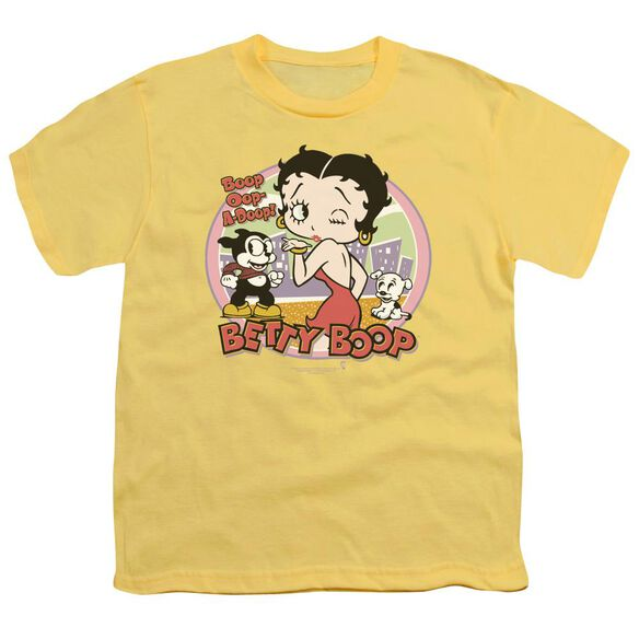 Betty Boop Kiss Short Sleeve Youth T-Shirt