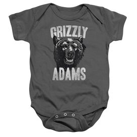 Grizzly Adams Retro Bear Infant Snapsuit Charcoal