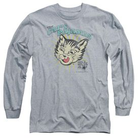 PUSS N BOOTS CATS PAJAMAS - L/S ADULT 18/1 - ATHLETIC HEATHER T-Shirt