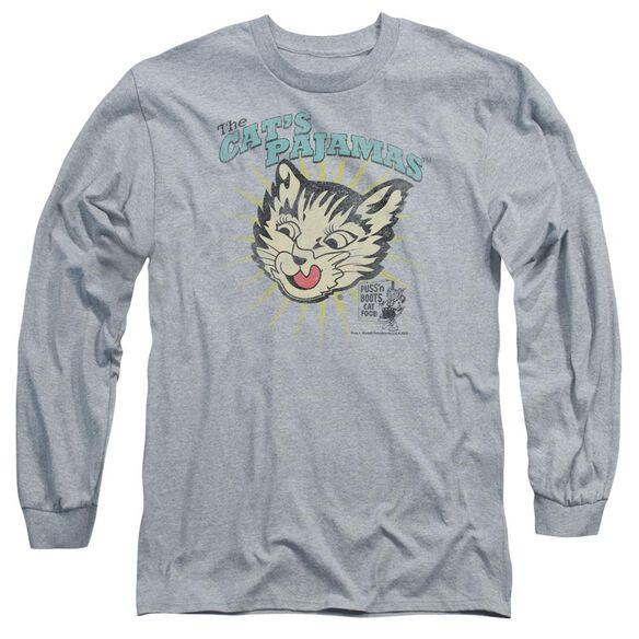 Puss N Boots Cats Pajamas Long Sleeve Adult Athletic T-Shirt