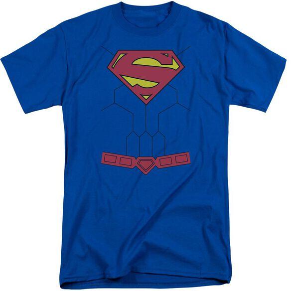 Superman New 52 Torso Short Sleeve Adult Tall Royal T-Shirt