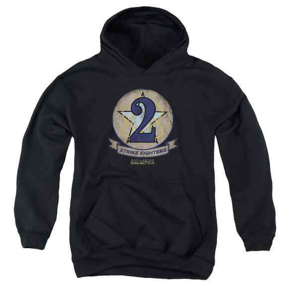 Bsg Strike Fighters Badge Youth Pull Over Hoodie
