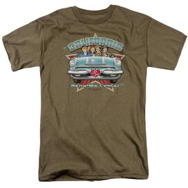 I LOVE LUCY CALIFORNIA HERE WE COME - S/S ADULT 18/1 - SAFARI GREEN T-Shirt