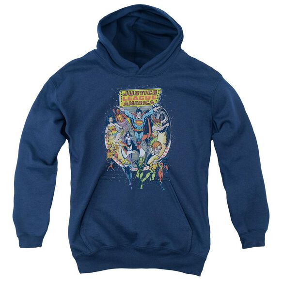 Jla Star Group Youth Pull Over Hoodie
