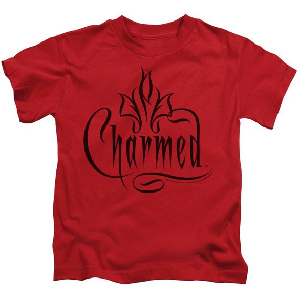 Charmed Charmed Logo Short Sleeve Juvenile Red Md T-Shirt