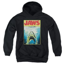 Jaws Bright Jaws-youth Pull-over Hoodie - Black