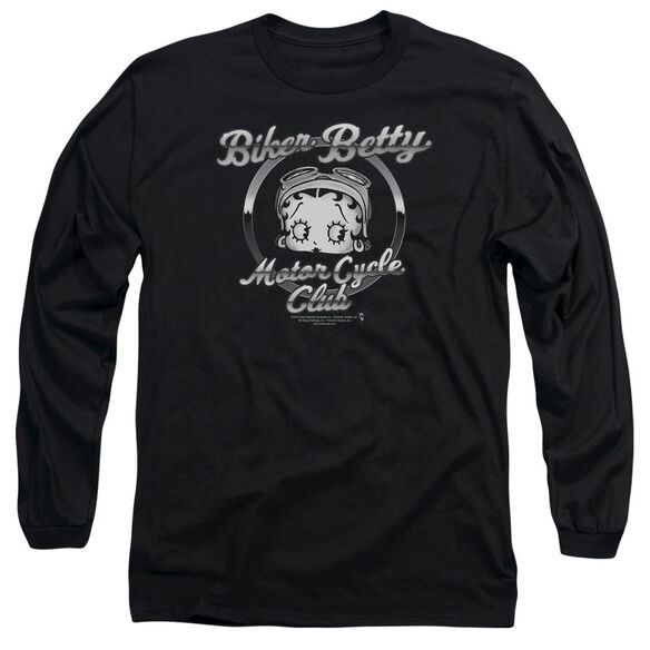 Betty Boop Chromed Logo Long Sleeve Adult T-Shirt