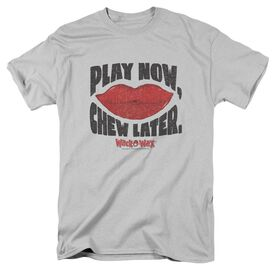 DUBBLE BUBBLE PLAY CHEW - S/S ADULT 18/1 - SILVER T-Shirt
