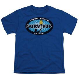 Survivor Burst Short Sleeve Youth Royal T-Shirt
