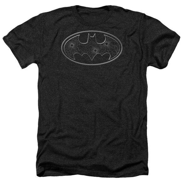 Batman Glass Hole Logo Adult Heather